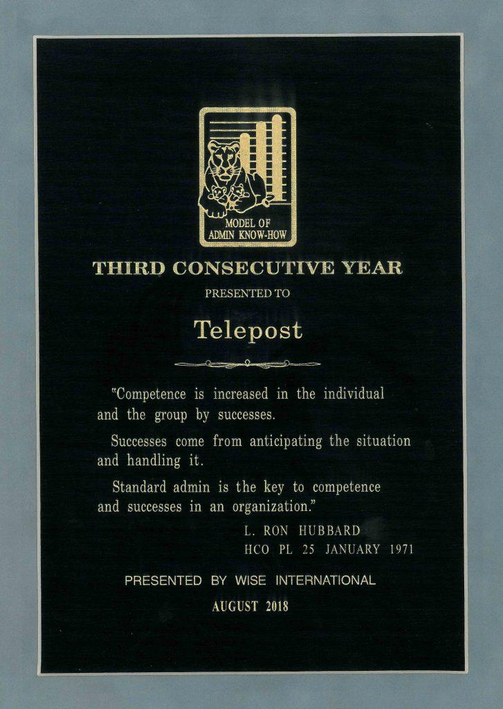 telepost certificate