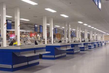 Hava postası sistemi- Süpermarketler